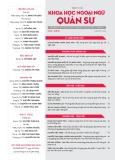 Tạp chí Khoa học Ngoại ngữ - Quân sự (Số 3 – 9/2016)