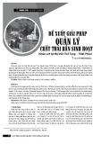 Đề xuất giải pháp quản lý chất thải rắn sinh hoạt (Khảo sát tại thị trấn Thổ Tang - Vĩnh Phúc)