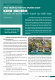 Phát triển đô thị tăng trưởng xanh kinh nghiệm từ một số nước và áp dụng tại Việt Nam