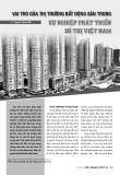 Vai trò của thị trường bất động sản trong sự nghiệp phát triển đô thị Việt Nam