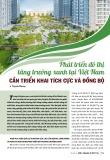 Phát triển đô thị tăng trưởng xanh tại Việt Nam cần triển khai tích cực và đồng bộ