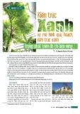 Kiến trúc xanh và mô hình quy hoạch, kiến trúc xanh trong phát triển đô thị bền vững