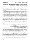 Hiệu quả của sugammadex trong hóa giải dãn cơ tồn dư