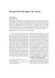 Tiếp cận triết lý hiếu nghĩa ở Tây Nam Bộ