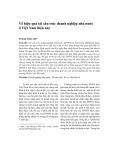 Về hiệu quả tái cấu trúc doanh nghiệp nhà nước ở Việt Nam hiện nay