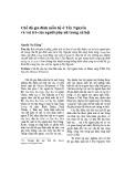 Chế độ gia đình mẫu hệ ở Tây Nguyên và vai trò của người phụ nữ trong xã hội