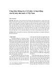 Công khai thông tin về tổ chức và hoạt động của bộ máy nhà nước ở Việt Nam