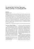 Cải cách thể chế ở Việt Nam: Thực trạng - Những vấn đề đặt ra và xu hướng phát triển