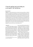 Về bảo tồn nghề thủ công truyền thống của các tộc người ở Việt Nam hiện nay