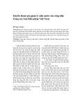 Quyền tham gia quản lý nhà nước của công dân trong các bản hiến pháp Việt Nam