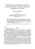 Pháp luật về các biện pháp hạn chế rủi ro trong hoạt động cho vay của các ngân hàng thương mại ở Việt Nam