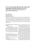Vai trò của thể chế phi chính thức đối với phát triển nông nghiệp vùng đồng bằng sông Cửu Long (Trường hợp mô hình Hợp tác xã thanh long Mỹ Tịnh An, huyện Chợ Gạo, tỉnh Tiền Giang)
