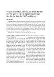 Về quan niệm Nhân, Lễ trong học thuyết đạo đức của Nho giáo và việc vận dụng trong giáo dục đạo đức cho sinh viên Việt Nam hiện nay