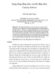 Dạng hằng đẳng thức của bất đẳng thức Cauchy-Schwar