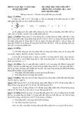 Đề thi học sinh giỏi cấp huyện môn Hóa học lớp 9 năm 2014-2015 – Phòng Giáo dục và Đào tạo huyện Đức Phổ