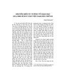 Chuyển biến tư tưởng về giáo dục của Nho sĩ Duy Tân Việt Nam đầu thế kỷ XX