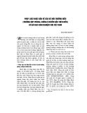 Pháp luật Nhật Bản về bảo vệ môi trường biển (Trường hợp phòng, chống ô nhiễm dầu trên biển) và bài học kinh nghiệm cho Việt Nam