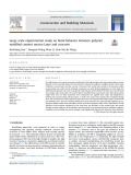 Large scale experimental study on bond behavior between polymer modified cement mortar layer and concrete