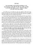 Chỉ thị của Thủ tướng Chính phủ số 20/2004/CT-TTg ngày 08 tháng 6 năm 2004 về việc tăng cường chỉ đạo và tổ chức thực hiện an toàn - vệ sinh lao động trong sản xuất nông nghiệp