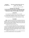 Nghị định Số 110/2002/NĐ-CP của Chính phủ về việc sửa đổi, bổ sung một số điều của Nghị định số 06/CP ngày 20 tháng 01 năm 1995 của Chính phủ quy định chi tiết một số điều của Bộ Luật Lao động về an toàn lao động, vệ sinh lao động