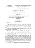 Nghị định Số 54/1999/NĐ-CP của Chính phủ về bảo vệ an toàn lưới điện cao áp