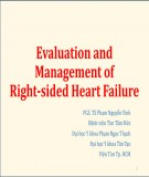 Bài giảng Evaluation and management of right-sided heart failure