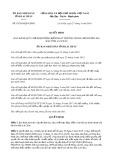 Quyết định số 07/2019/QĐ-UBND tỉnh Lai Châu