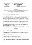 Quyết định số 788/2019/QĐ-UBND tỉnh PhúYên