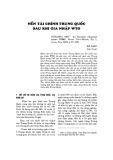 Nền tài chính Trung Quốc sau khi gia nhập WTO
