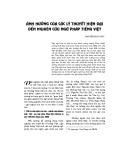 Ảnh hưởng của các lý thuyết hiện đại đến nghiên cứu ngữ pháp tiếng Việt