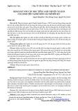 Khảo sát nhu cầu học tiếng Anh chuyên ngành của sinh viên tại bộ môn gây mê hồi sức