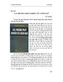 Đọc sách Các phương pháp nghiên cứu ngôn ngữ