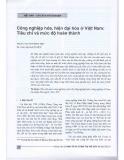 Công nghiệp hóa, hiện đại hóa ở Việt Nam: Tiêu chí và mức độ hoàn thành