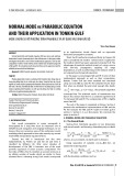 Normal mode vs parabolic equation and their application in Tonkin Gulf