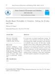 Reality-based probability and statistics: Solving the evidential crisis