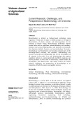 Current research, challenges, and perspectives of biotechnology: An overview