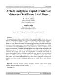 A study on optimal capital structure of Vietnamese real estate listed firms