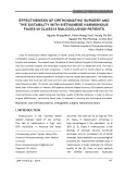 Effectiveness of orthognathic surgery and the suitability with Vietnamese harmonious faces in class III malocclusion patients