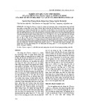 Nghiên cứu khả năng sinh trưởng của cây húng tây (Thymus Vulgaris L.) dưới tác động của một số yếu tố hóa học và vật lý của môi trường nuôi cấy