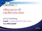Bài giảng Quản trị chuỗi cung ứng - Chương 1: Tổng quan về chuỗi cung ứng - GV. Lê Văn Phong