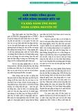 Giới thiệu tổng quan về nền nông nghiệp hữu cơ và khả năng ứng dụng năng lượng nguyên tử
