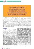 Các đặc trưng tính chất của hydrogel chứa NPK thu được từ acid acrylic và cacboxymethyl cellulose bằng kỹ thuật ghép bức xạ