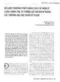 Đổi mới phương pháp giảng dạy các môn lý luận chính trị, Tư tưởng Hồ Chí Minh trong các trường đại học khối kỹ thuật