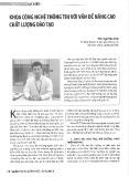 Khoa Công nghệ Thông tin với vấn đề nâng cao chất lượng đào tạo