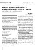 Đề xuất kỹ thuật điều chế triệt tiêu điện áp Common Mode cho nghịch lưu Cascade 3 pha 5 bậc