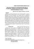 The effectiveness of intervention methods in pulmonary tuberculosis detection in Namdinh province from 2013 to 2014