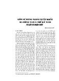 Gốm sứ Đàng ngoài xuất khẩu ra Đông Nam Á thế kỷ XVII tư liệu và nhận thức