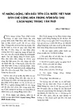 Về những đồng tiền đầu tiên của nước Việt Nam Dân chủ Cộng hòa trong năm đầu sau cách mạng tháng Tám 1945
