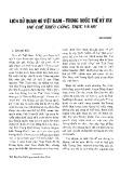Lịch sử quan hệ Việt Nam - Trung Quốc thế kỷ XIX thể chế triều cống, thực và hư