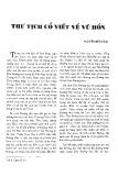 Thư tịch cổ viết về Vũ Hồn